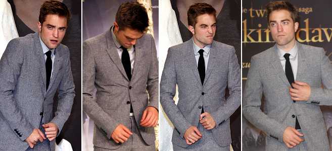 Robert Pattinson in Burberry | 'The Twilight Saga: Breaking Dawn - Part 2' Berlin Premiere