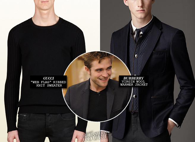 Robert Pattinson em Gucci e Burberry London | 'Live!  com Kelly e Michael '