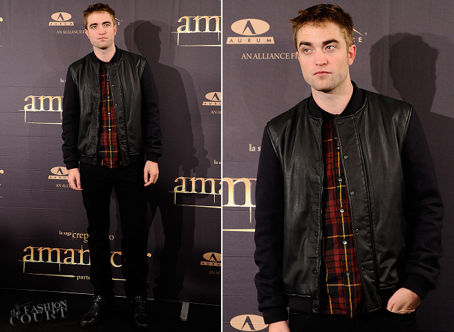 Robert Pattinson in McQ Alexander McQueen & Lanvin | 'The Twilight Saga: Breaking Dawn - Part 2' Madrid Photocall