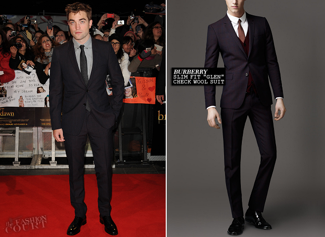 Robert Pattinson in Burberry | 'The Twilight Saga: Breaking Dawn - Part 2' London Premiere
