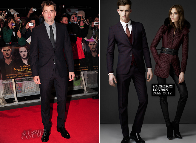 Robert Pattinson in Burberry London | 'The Twilight Saga: Breaking Dawn - Part 2' London Premiere