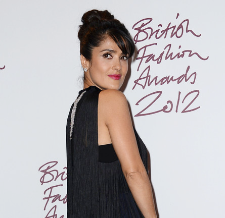Salma Hayek Pinault in Stella McCartney | British Fashion Awards 2012