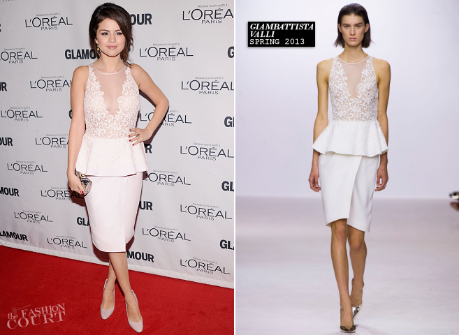 Selena Gomez in Giambattista Valli | Glamour Women of the Year Awards 2012