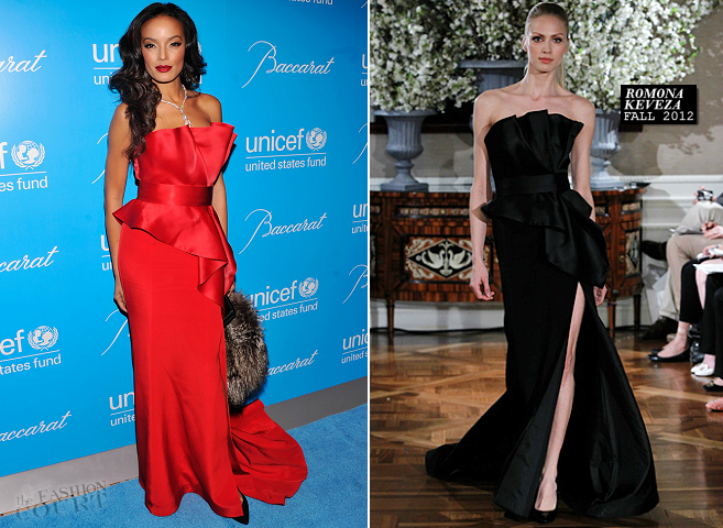 Selita Ebanks in Romona Keveza | UNICEF Snowflake Ball 2012