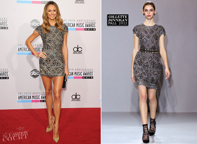 Stacy Keibler in Collette Dinnigan | 2012 American Music Awards