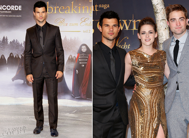 Taylor Lautner in HUGO Hugo Boss | 'The Twilight Saga: Breaking Dawn - Part 2' Berlin Premiere
