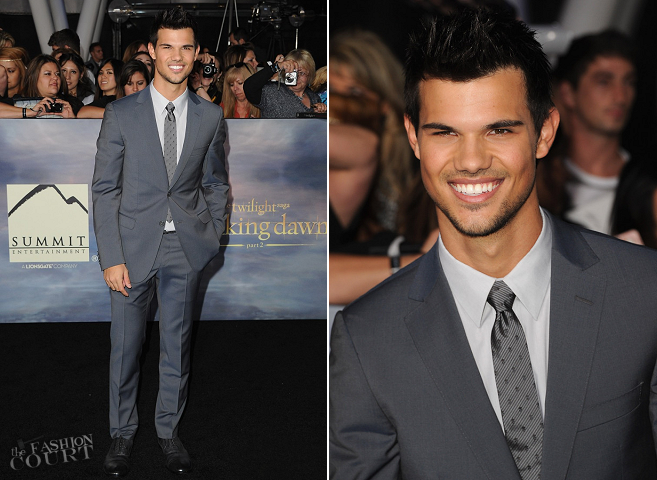Taylor Lautner in Z Zegna | 'The Twilight Saga: Breaking Dawn - Part 2' LA Premiere