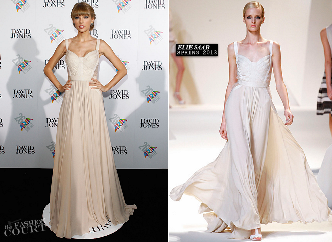 Taylor Swift in Elie Saab | ARIA Awards 2012