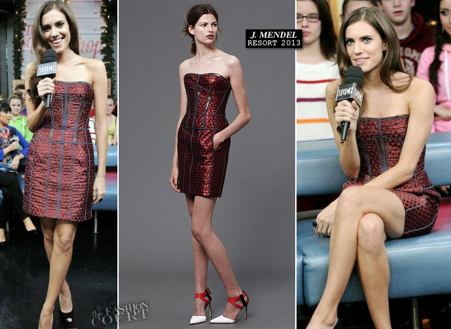 Allison Williams in J. Mendel | MuchMusic's New.Music.Live.