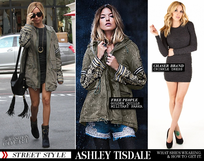 Ashley Tisdale Goes Holiday Shopping in Chaser Brand & Free People!