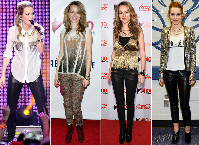 Jingle All The Way: Bridgit Mendler's Solid Gold Fashion Choices!