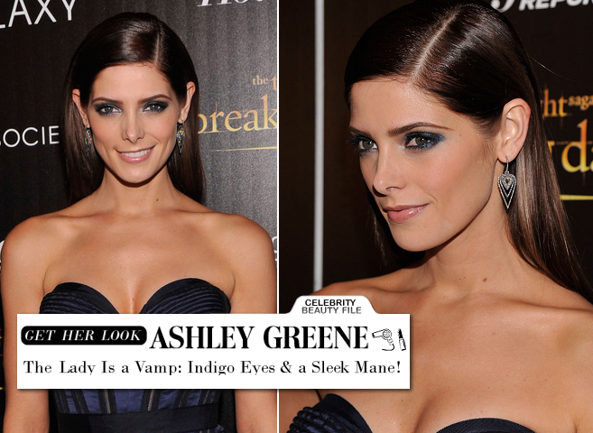 Ashley Greene's Sleek Mane & Indigo Eyes Gives Her Rockstar Edginess for the 'Breaking Dawn' Screening!