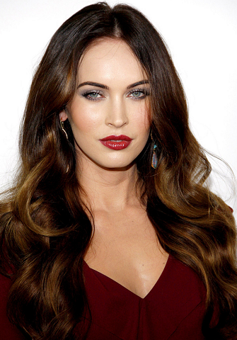 brunette long hair styles get the look megan fox s voluminous waves shine at the 6941 | get the look mfox this is 40 la premiere