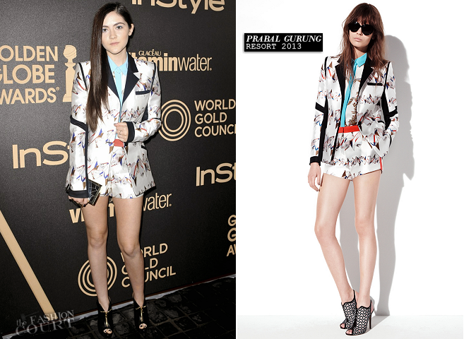 Isabelle Fuhrman in Prabal Gurung | HFPA & InStyle Miss Golden Globe 2013 Party