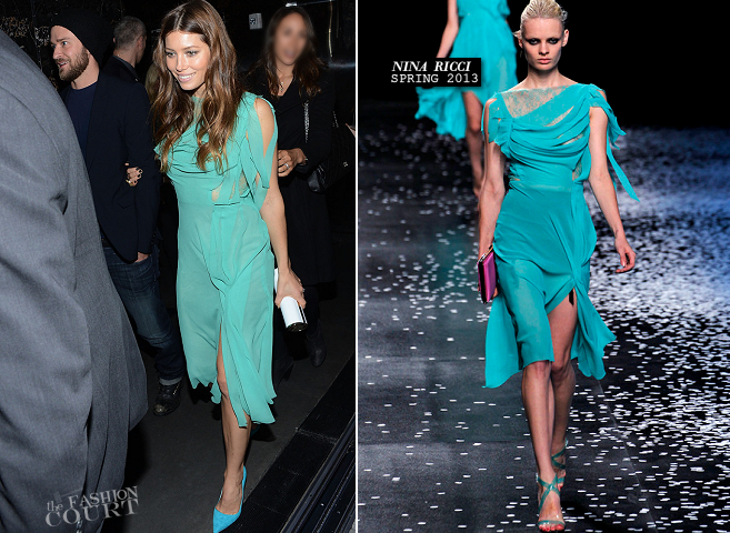 Jessica Biel in Nina Ricci | 'Playing For Keeps' After Party
