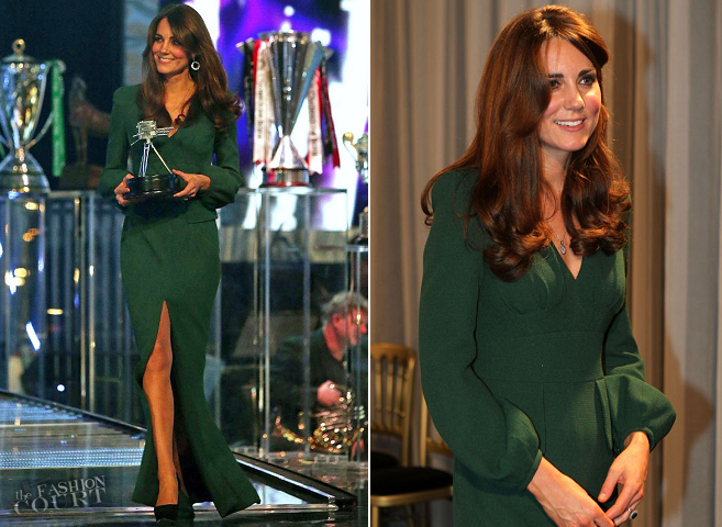 Catherine, Duchess of Cambridge in Alexander McQueen | BBC Sports Personality of the Year 2012