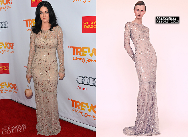 Katy Perry in Marchesa | TREVOR LIVE! 2012