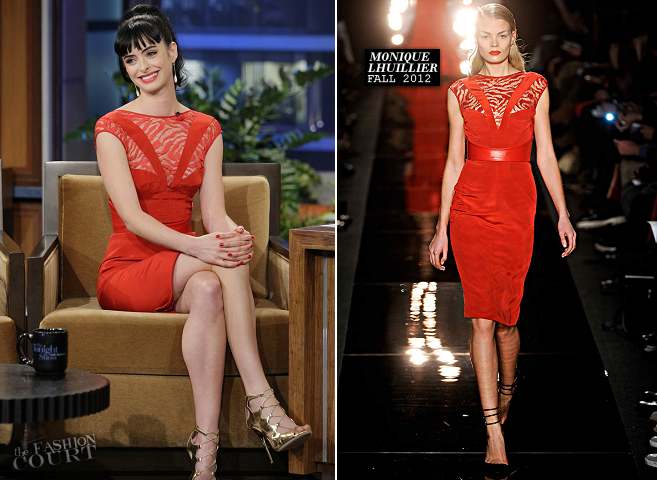 Krysten Ritter in Monique Lhuillier | 'The Tonight Show with Jay Leno'