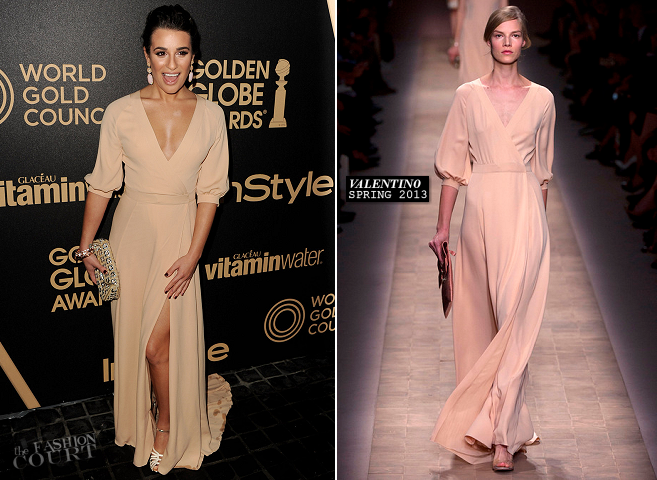 Lea Michele in Valentino | HFPA & InStyle Miss Golden Globe 2013 Party