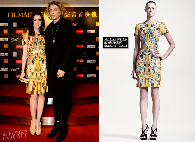 Lily Collins in Alexander McQueen | 'The Twilight Saga: Breaking Dawn - Part 2' Hong Kong Premiere