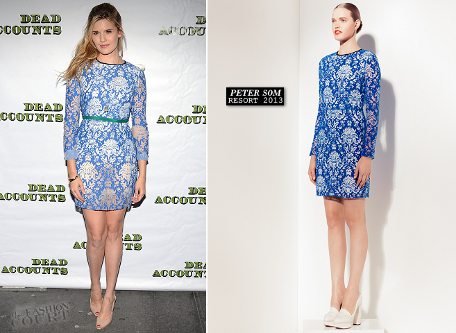 Maggie Grace in Peter Som | 'Dead Accounts' Broadway Opening Night