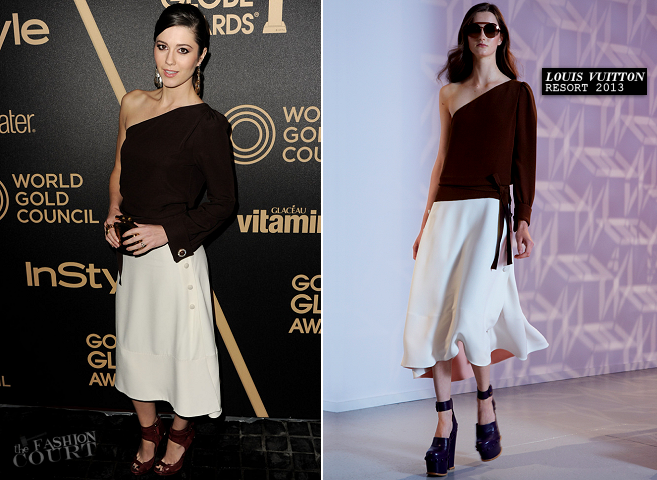 Mary Elizabeth Winstead in Louis Vuitton | HFPA & InStyle Miss Golden Globe 2013 Party