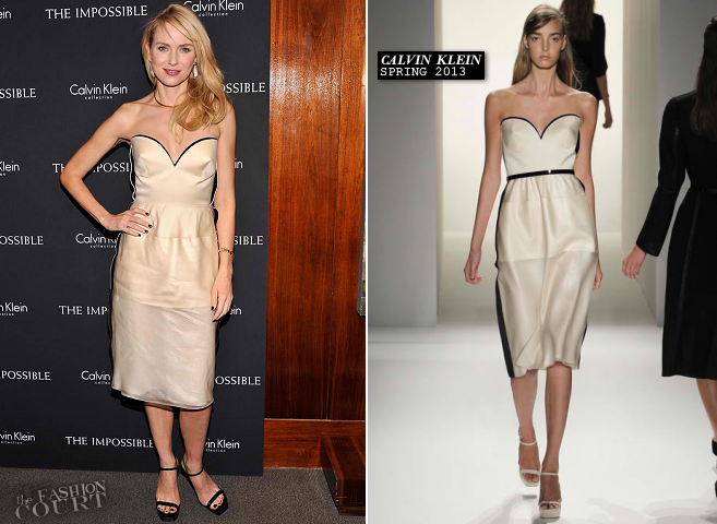 Naomi Watts in Calvin Klein | 'The Impossible' NYC Screening
