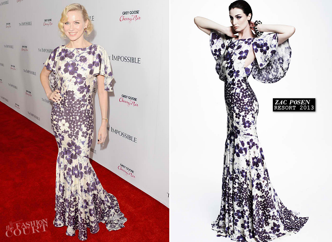 Naomi Watts in Zac Posen | 'The Impossible' LA Premiere