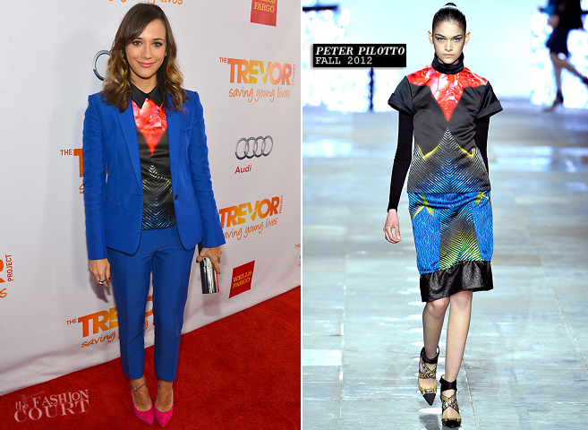 Rashida Jones in Celine & Peter Pilotto | Trevor Live 2012
