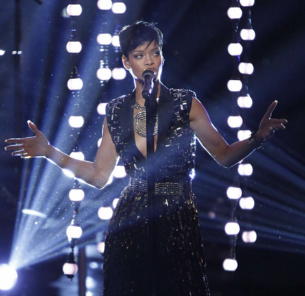 Rihanna in Lanvin | 'The Voice' Season 3 Finale