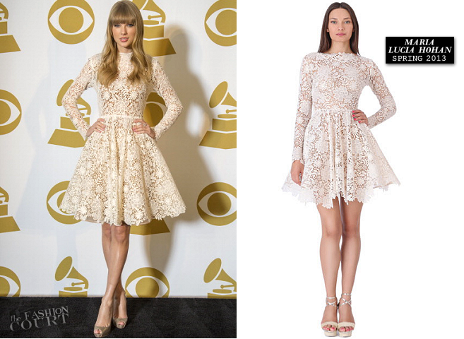 Taylor Swift in Maria Lucia Hohan | The GRAMMY Nominations Concert Live!! 2012