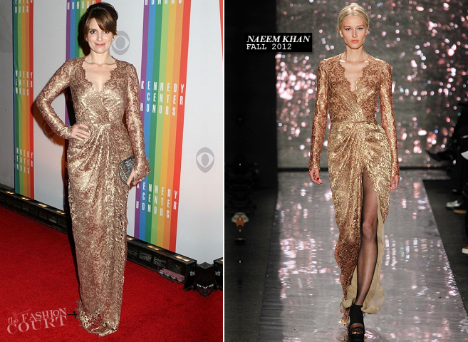 Tina Fey in Naeem Khan | Kennedy Center Honors 2012
