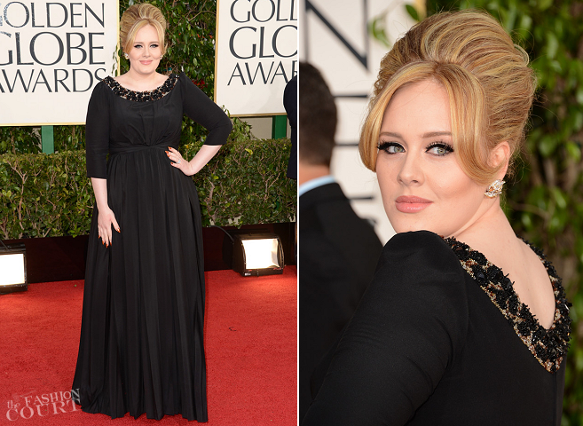Adele in Burberry Prorsum | 2013 Golden Globes