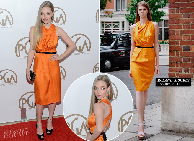 Amanda Seyfried in Roland Mouret | 2013 Producers Guild Awards