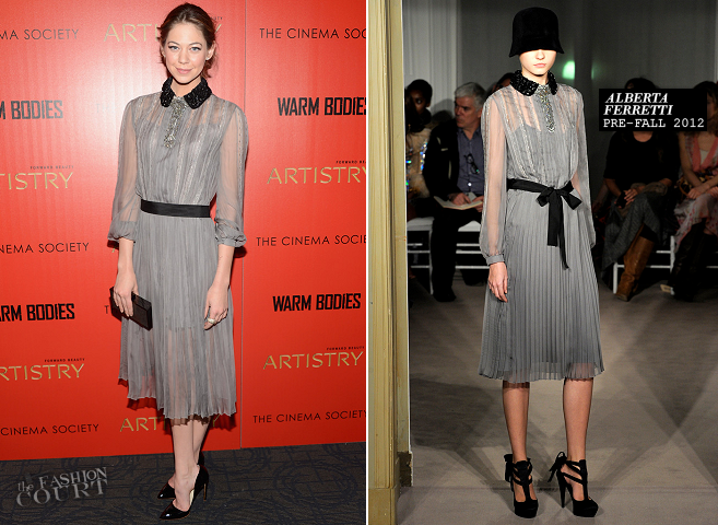 Analeigh Tipton in Alberta Ferretti | 'Warm Bodies' NYC Screening