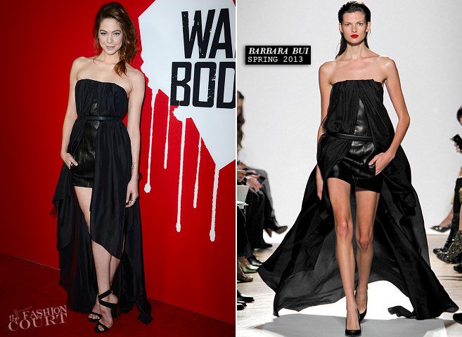 Analeigh Tipton in Barbara Bui | 'Warm Bodies' LA Premiere