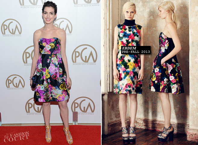 Anne Hathaway in Erdem | 2013 Producers Guild Awards