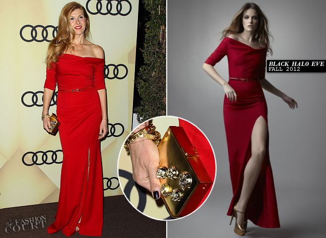 Connie Britton in Black Halo EVE | Audi Golden Globe 2013 Kick Off Party