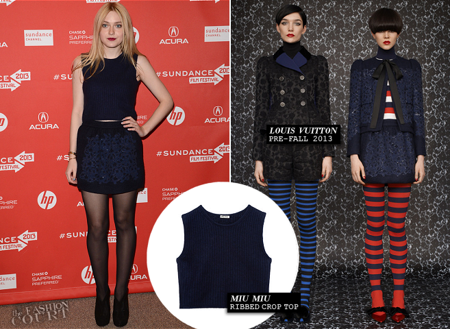 Dakota Fanning in Miu Miu & Louis Vuitton | 'Very Good Girls' 2013 Sundance Film Festival Premiere