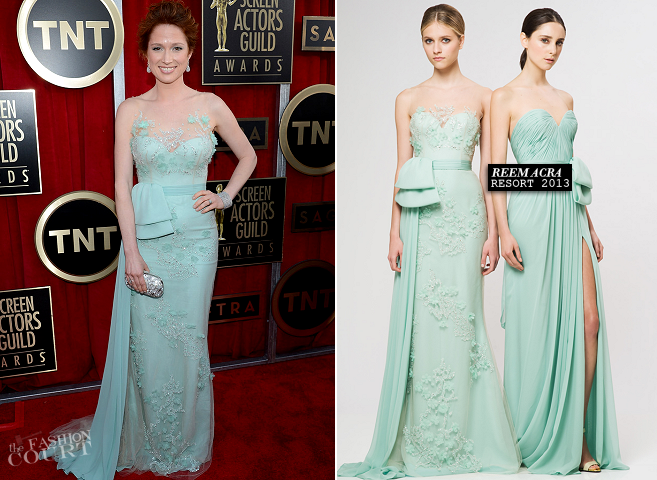 Ellie Kemper in Reem Acra | 2013 SAG Awards