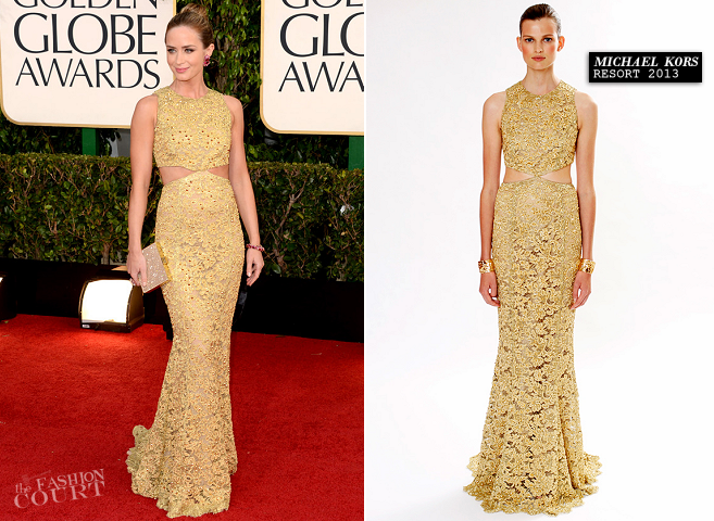 Emily Blunt in Michael Kors | 2013 Golden Globes