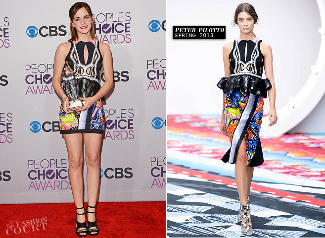 Emma Watson in Peter Pilotto | People's Choice Awards 2013