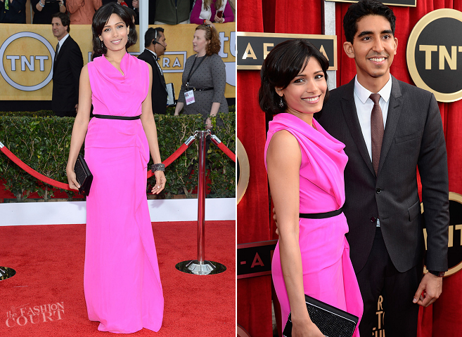 Freida Pinto in Roland Mouret | 2013 SAG Awards