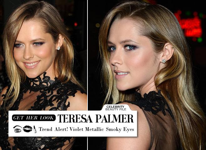 Get Teresa Palmer's Smouldering Metallic Violet Eyes!