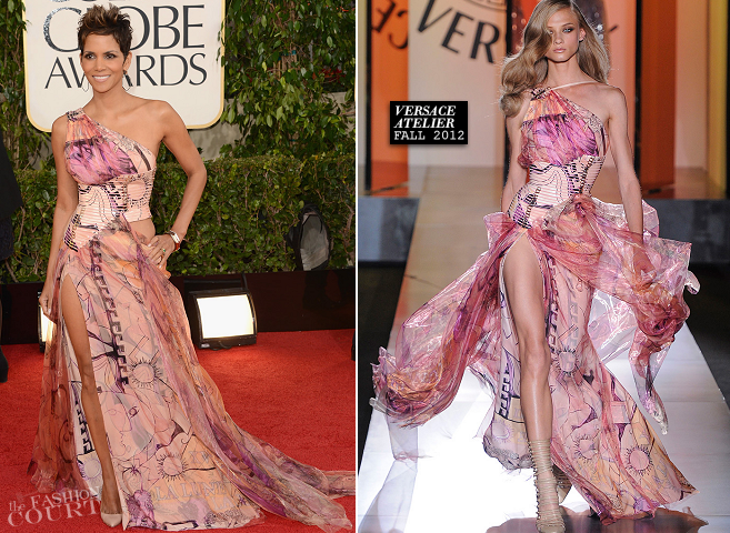 Halle Berry in Atelier Versace | 2013 Golden Globes