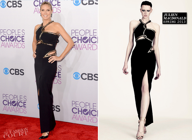 Heidi Klum in Julien Macdonald | People's Choice Awards 2013