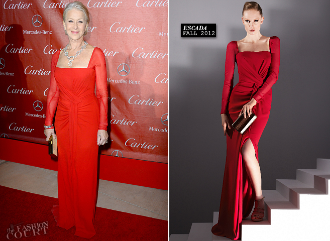 Helen Mirren in Escada | Palm Springs International Film Festival Awards Gala 2012