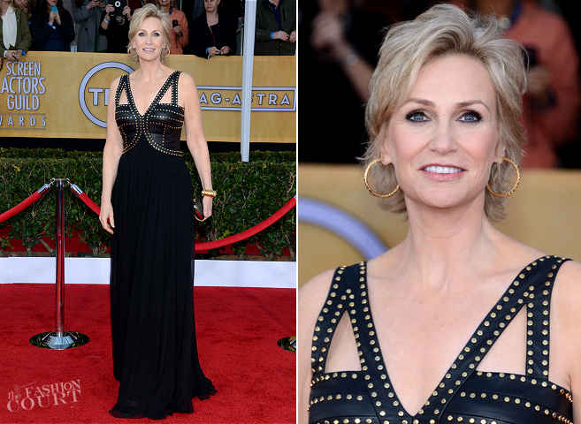 Jane Lynch in David Meister Signature | 2013 SAG Awards