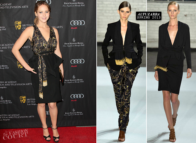 Jennifer Lawrence in Altuzarra | BAFTA Tea Party 2013