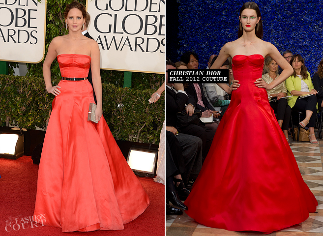 Jennifer Lawrence in Christian Dior Couture | 2013 Golden Globes